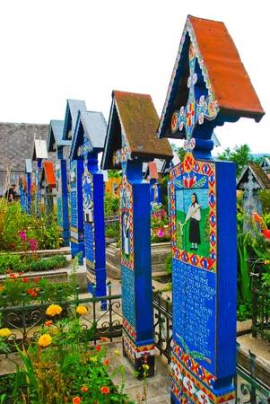Merry Cemetery in Romania, Europe Editorial