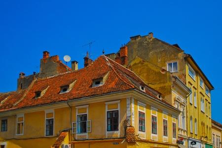 Roofs of Transylvania, Romania, Europe Editorial