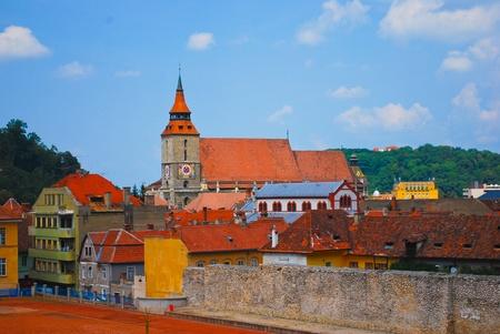 Roofs of Transylvania, Romania, Europe Stock Photo