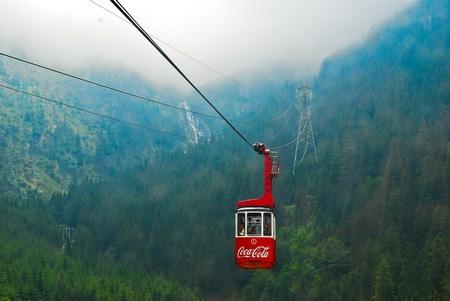 Mountain lift in the Carpathians, Romania, Europe