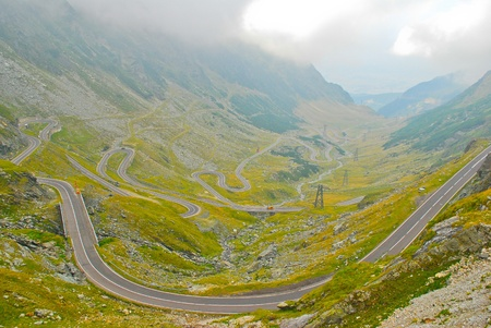 Transfagarasan road in the Carpathians, Romania, Europe Stock Photo