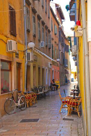 Street in Dubrovnik during the summer, Croatia, Europe