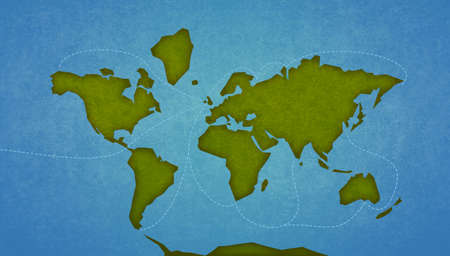 oceans: Map of the Earth Continents and oceans. Digital raster illustration. Stock Photo