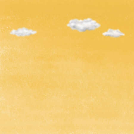 yellow sky: Clouds on yellow sky. Digital background raster illustration. Stock Photo