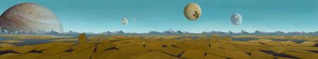 armageddon: Armageddon. Digital background raster illustration with an apocalyptic scenario.