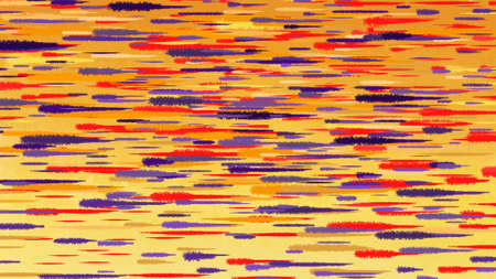 color image: Autumn abstract watercolor background. Motion blur red blue yellow transition lines.  Digital background raster illustration. Stock Photo