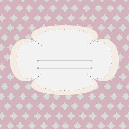 girlish: Girlish school agenda cover. Greeting card. Marriage invitation card. Digital background vector illustration.