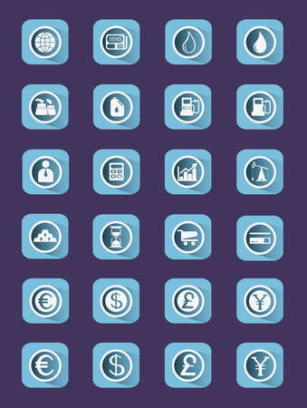 buisiness: Flat icon set. Buisiness icons. Digital background vector illustration.