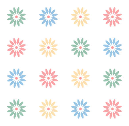 notebook cover: Girlish floral notebook cover. Spring summer seamless pattern illustration background.