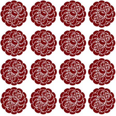 sophisticated: Sophisticated old fashioned floral print for fabric. Seamless pattern of burgundy flowers isolated on white backdrop. Digital background illustration.