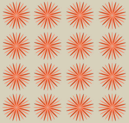 Pastel pink flowers on beige backdrop. Digital background pattern.