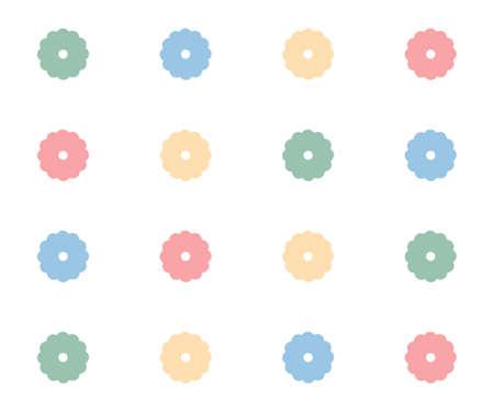 girlish: Girlish floral notebook cover. Spring summer seamless pattern illustration background.