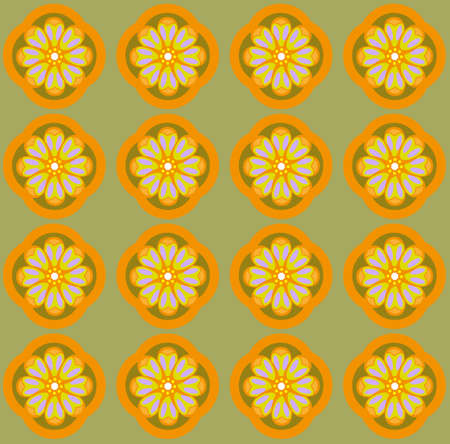 amber: Yellow amber flowers on olive green backdrop. Digital background pattern.