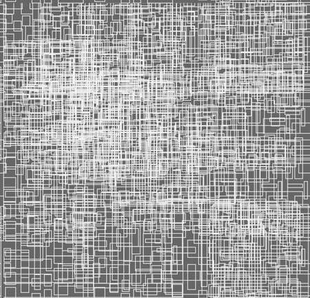 Microchip. Line art. White lines on the gray backdrop. Digital background pattern print.