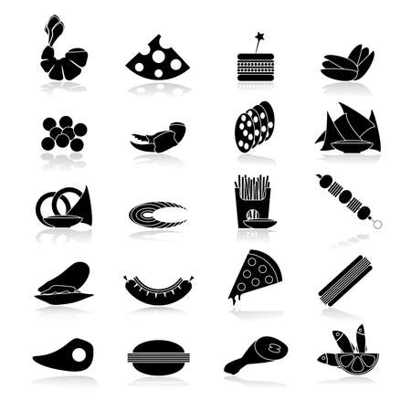 snacks: Black and white beer snacks. Digital background vector illustration. Illustration