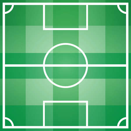 outdoor sports: Soccer, Football game field template with all main parts. Outdoor Sports digital background vector illustration.