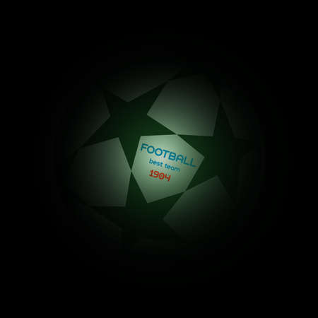 league: Champions league ball with stars. Football Soccer best team message ball. Digital background vector illustration.