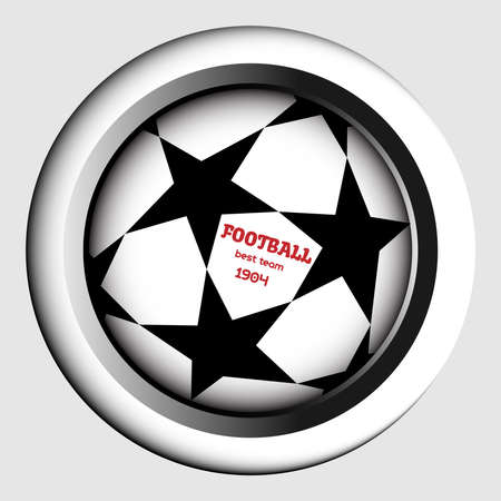 champions league: Champions league ball with stars. Football best team message. digital background vector illustration.