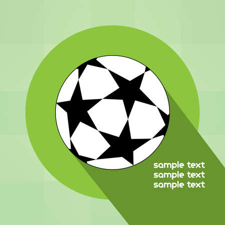champions league: Champions league ball with stars isolated on green backdrop. Football Soccer ball digital background vector illustration. Illustration