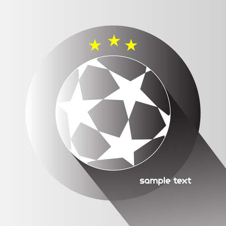 champions league: Champions league ball with stars isolated on gray backdrop. Football Soccer ball digital background vector illustration.