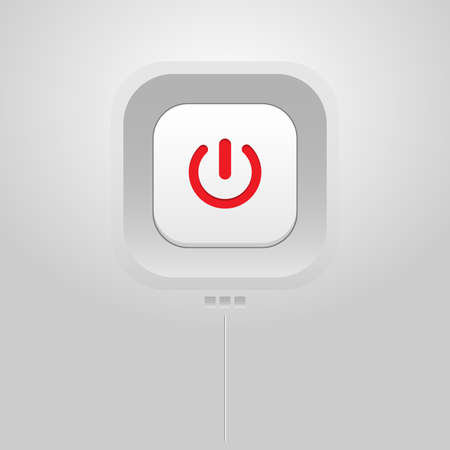 electronic background: On off  Power Button on any Electronic Device. Digital background vector icon. Illustration