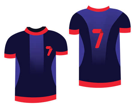 sports uniform: Soccer Sports Uniform. T-shirt Sportswear for Football Players. Fashion illustration on white background. Isolated vector objects of clothes.