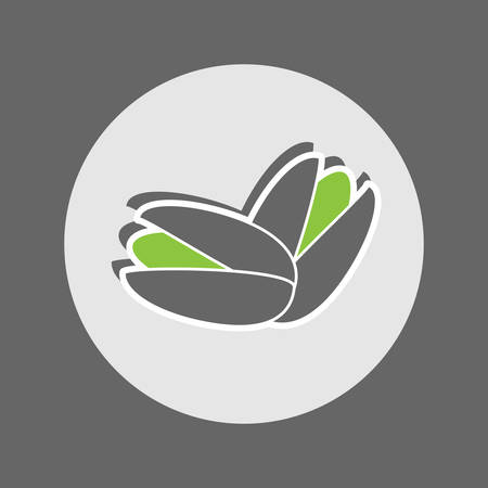 pistachios: Pistachios Food Snacks Illustration. Bar Menu Flat Icon. Vector Digital Illustration.
