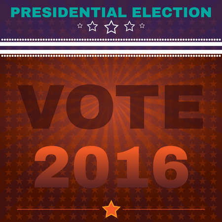 presidential: Election Day Campaign Ad Flyer. Social Promotion Banner. Presidential Election Vote 2016. American Flags Symbolic Elements - Stripes and Stars. Digital vector illustration. Illustration