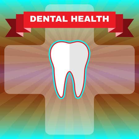 freshness: Dental Health. Teeth Hygiene Illustration. Medical Vector Flyer. Teeth Protection and Freshness.