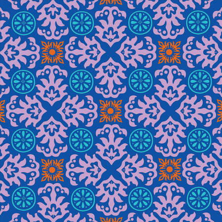 carpet: Ornamental pattern decoration. Repeated decorative elements. Floral motives. Wrapping paper template. Fashion old style pattern. Vector digital illustration.