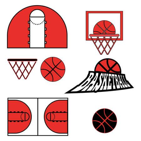 athletic type: Basketball objects. Basketball Ball Type Logo.