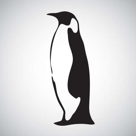 penguin symbol black and white bird from antarctica single