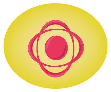 bevel: Circular red swirl elements. Modern Logo Symbol. Graphic design illustration. Digital vector illustration. Illustration