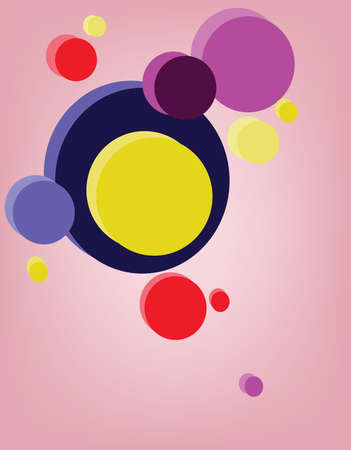 multiple image: Circular composition. Multiple colorful circles placed one near another. Graphic design banner illustration template. Digital vector background image.