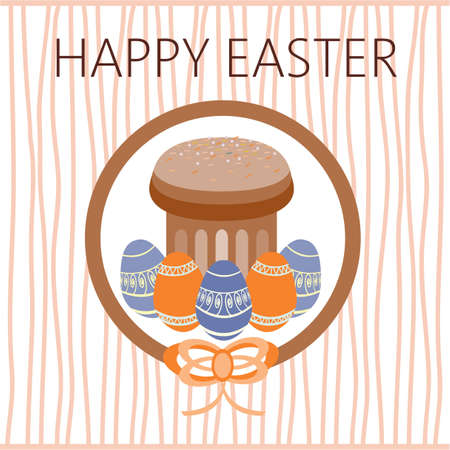 raisin: Happy Easter Card. Easter eggs. Plain Colored Easter Eggs. Digital background vector illustration.