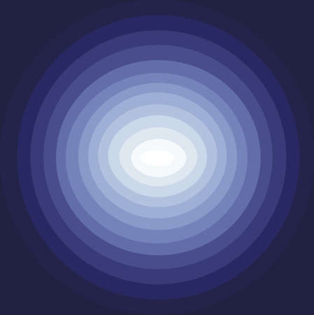 disorient: Abstract background with blue circles descending to the centre in white color, digital vector image Illustration