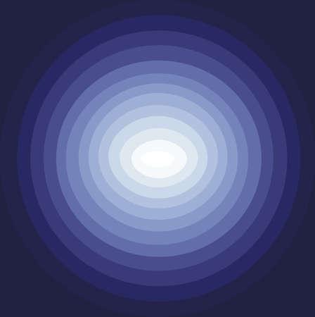 color in: Resumen de antecedentes de los círculos azules que descienden hacia el centro de color blanco, vector de imagen digital con