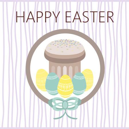 plain: Happy Easter Card. Easter eggs. Plain Colored Easter Eggs. Digital background vector illustration.