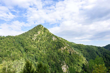 Photo of green peaks in fagaras mountains, Romania.