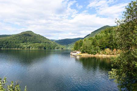 Photo of vidraru lake in fagaras mountains, Romania
