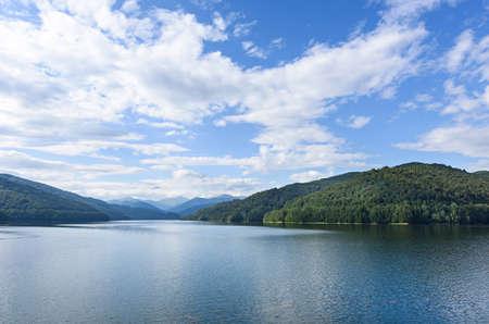 fagaras: Photo of vidraru lake in fagaras mountains, Romania