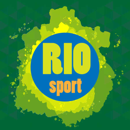 janeiro: Abstract rio sport design with blue circle. Digital vector image