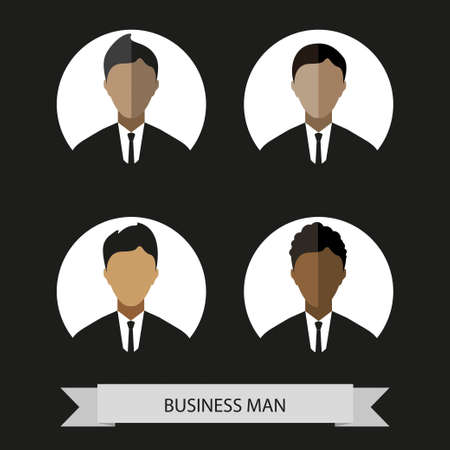 businessman silhouette avatar profile picture businessman vector