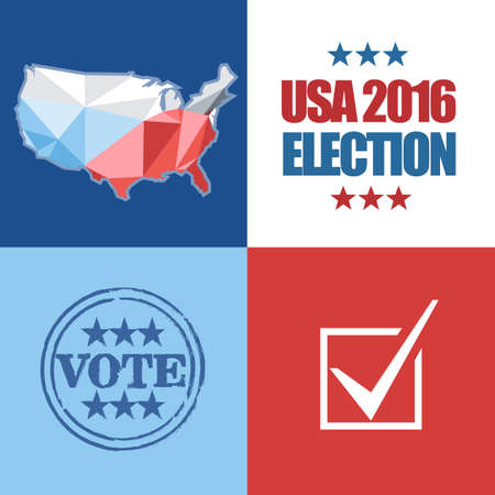 Usa 2016 Election Card With Country Map Vote Box And We Need