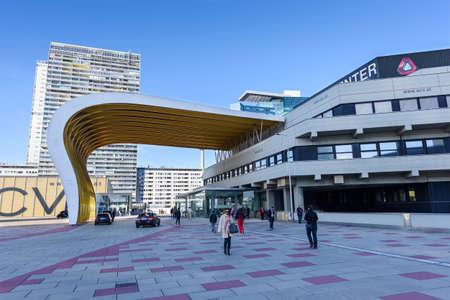 14: VIENNA, AUSTRIA - NOVEMBER 14, 2015: View on financial district in Vienna, Austria Editorial