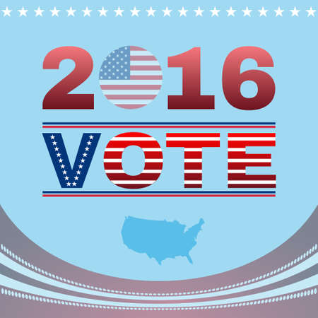 Digital vector vote usa election 2016, flat style
