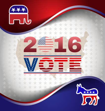 choise: Digital vector usa election with presidential vote, republican vs democrat, make your choise,  flat style