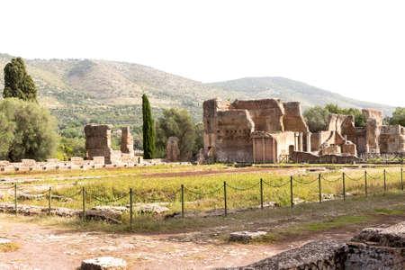 Hadrian villa, adriana is a large roman archaeological complex at tivoli, Italy