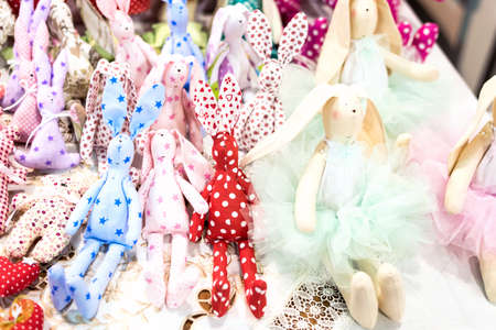Colored rabbit dolls decorations for christmas tree
