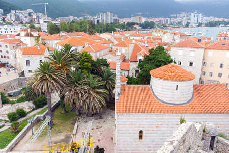 The view of budva old town, one of the best preserved medieval cities in the mediterranean
